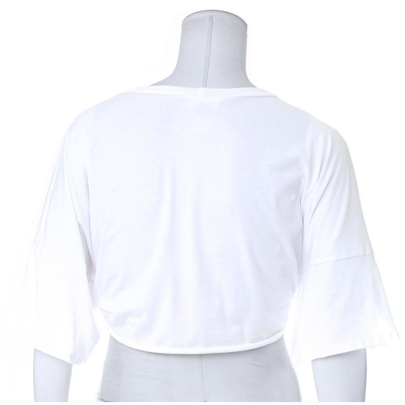 Posh Shoppe: Plus Size 'GRLPWR' Terry Tee, White Tops