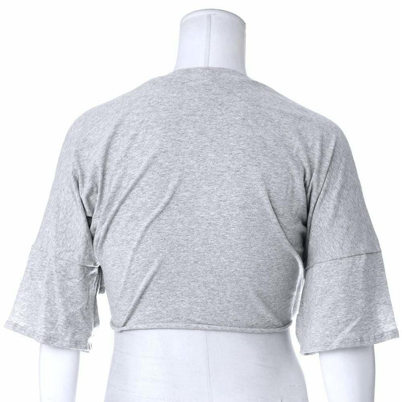 Posh Shoppe: Plus Size Crop Tee, Gray Tops