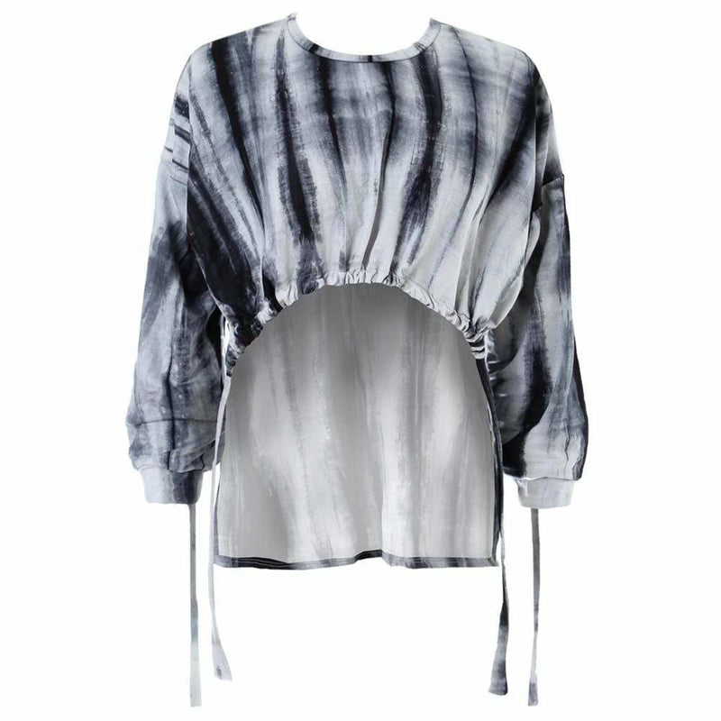Plus Size Tie Dye Cinch Top, Cement
