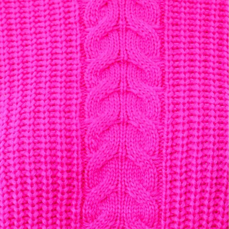 Posh Shoppe: Plus Size Cropped Cable Knit Sweater, Pink Tops