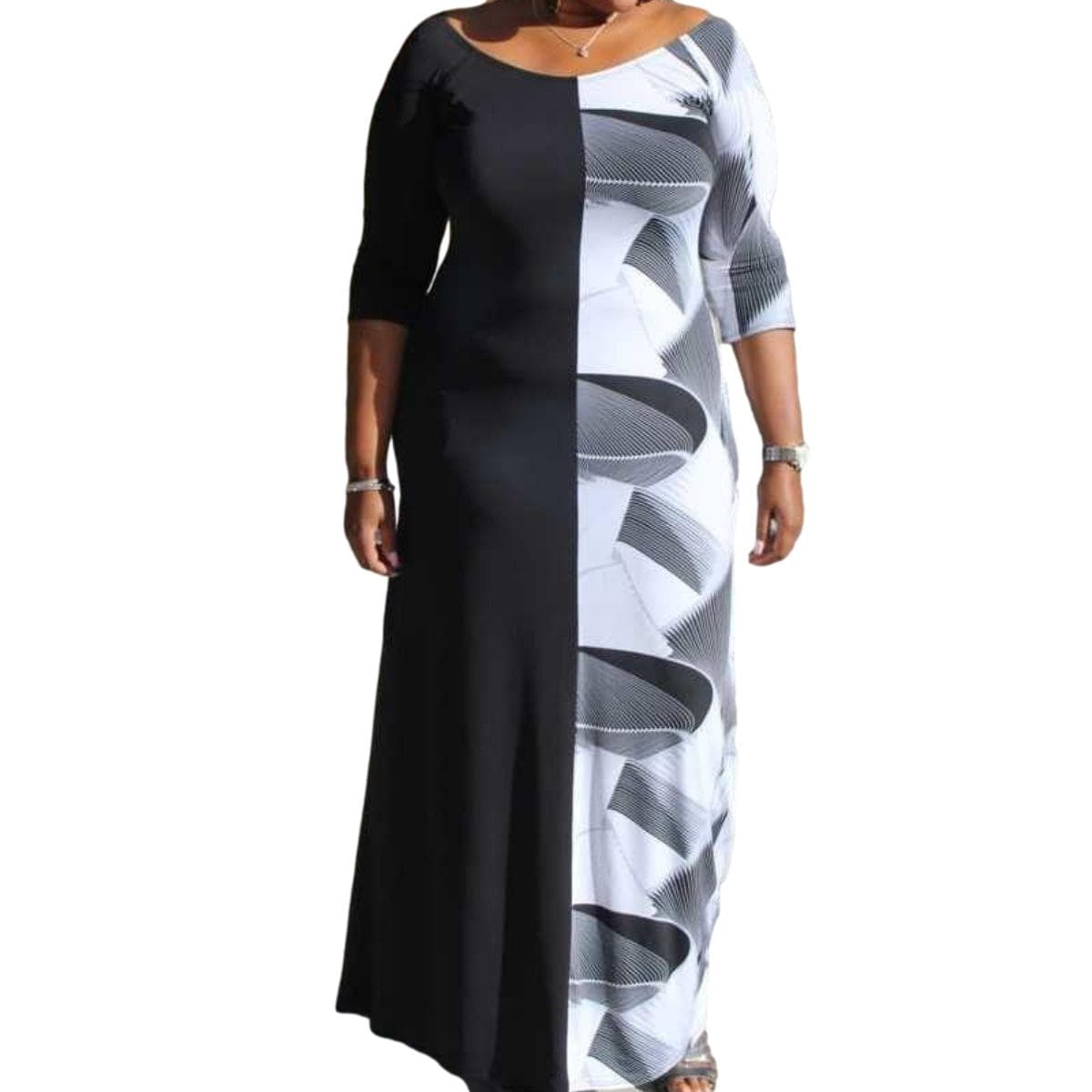 Maxi Color Block with Pockets - Posh Shoppe