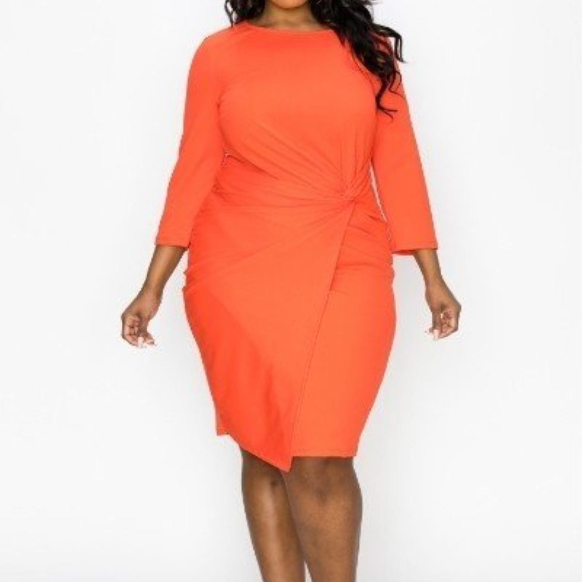 Solid Bodycon Dress - Posh Shoppe