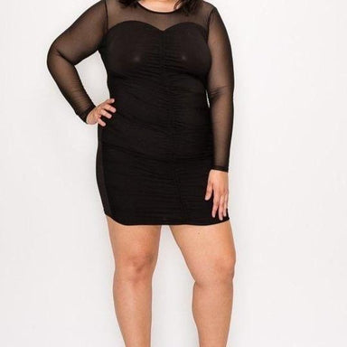 Posh Shoppe: Solid Body Con Black Dress