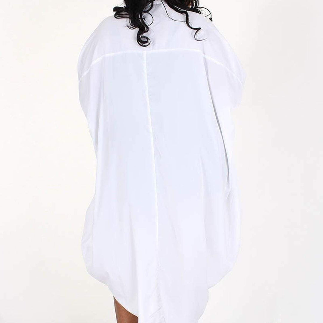 Posh Shoppe: Over sized Hi Lo Short/Tunic Button Down Dress Dress