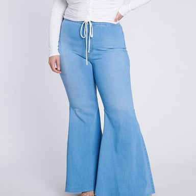 Posh Shoppe: Plus Extra Flare Jeans Bottoms