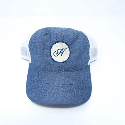 Native Acres Denim Blue Trucker Cap