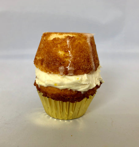 Keto Lemon Mini Cupcake Sandwich