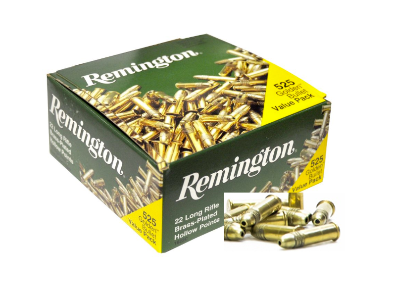 Remington .22 lr Golden Bullet HP HV 36 gr 525 Stk.