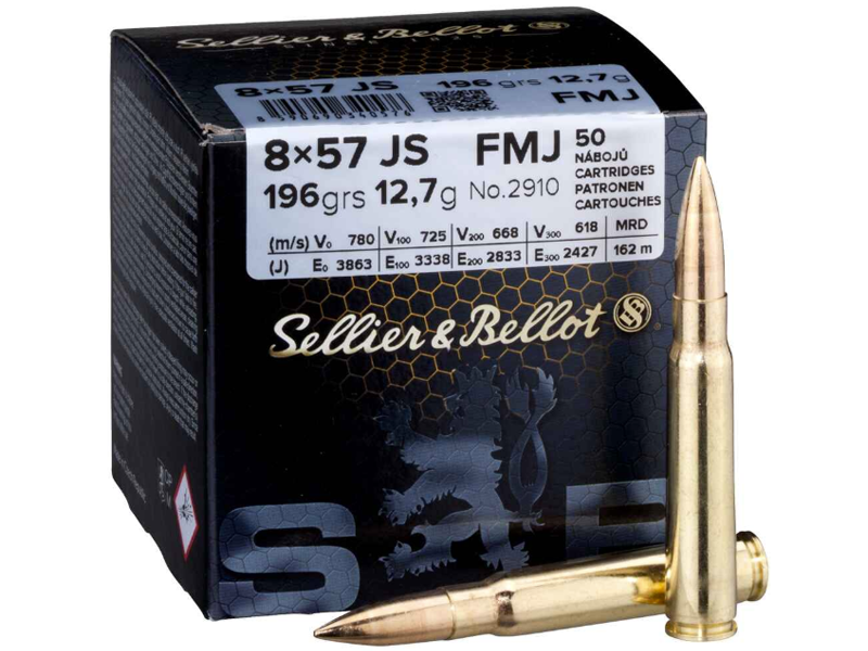 S&B 8x57 IS FMJ 12,7g/196 grs. 50 Stk.