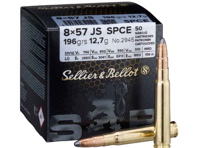 S&B 8x57 IS SPCE 12,7g/196 grs. 50 Stk.
