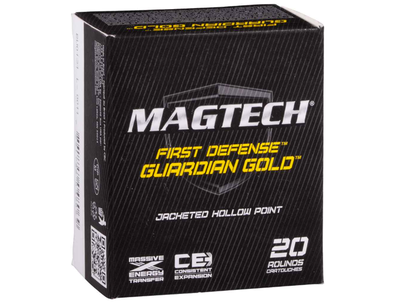 Magtech 9 mm Luger Guardian Gold JHP 8,0g/124grs 20 Stk.