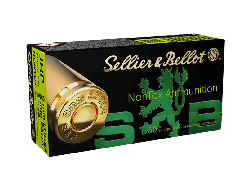 S&B 9mm Luger TFMJ 7,5g/115grs NonTox 50 Stk.