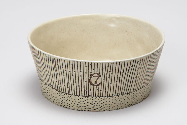 DOG BOWL YOJI CREME / STRIPES - Lavish Tails