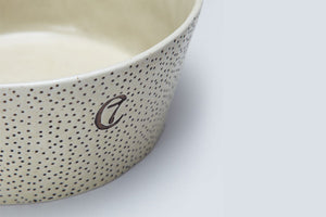 DOG BOWL YOJI CREME / DOTS - Lavish Tails