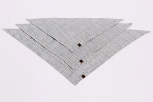 DOG BANDANA CHECK LIGHT BLUE - SAND - Lavish Tails