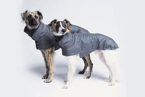 DOG COAT BROOKLYN WATERPROOF FLANNEL GRAY - Lavish Tails