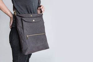 WALKING-BAG HEATHER BROWN - Lavish Tails