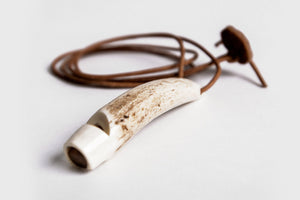 DOG WHISTLE STAG HORN HAND CARVED - Lavish Tails