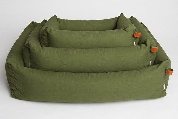 DOG BED SLEEPY ORGANIC CANVAS NEW GREEN - Lavish Tails