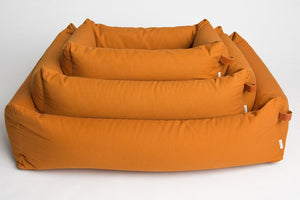 DOG BED SLEEPY ORGANIC CANVAS PUMPKIN - Lavish Tails
