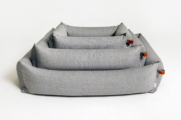 DOG BED SLEEPY DELUXE TWEED GREY - Lavish Tails