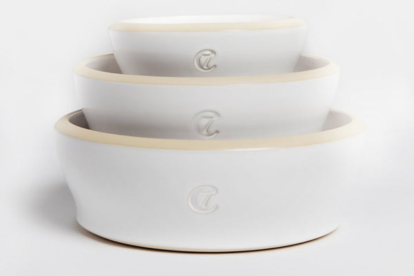 DOG BOWL JAMIE WHITE - Lavish Tails