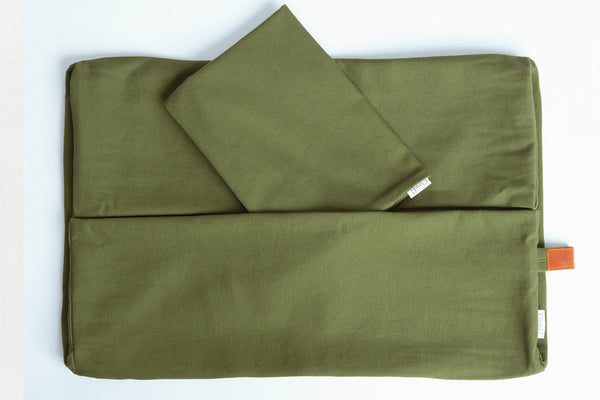DUVET COVER SLEEPY ORGANIC CANVAS NEW GREEN - Lavish Tails