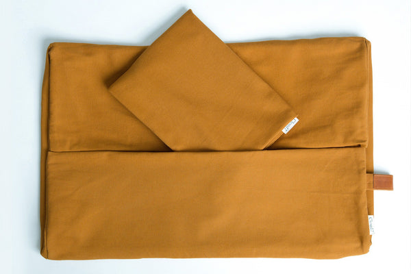 DUVET COVER SLEEPY ORGANIC CANVAS PUMPKIN - Lavish Tails