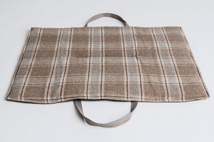 TRAVEL BED WAXED CANVASS/TARTAN - Lavish Tails