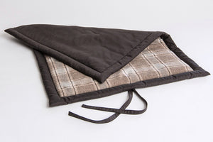 DOG MAT HOSTEL WAXED CANVAS/TARTAN - Lavish Tails