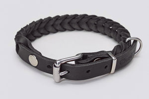 DOG COLLAR CENTRAL PARK BLACK - Lavish Tails