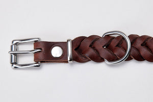 DOG COLLAR CENTRAL PARK SADDLE BROWN - Lavish Tails