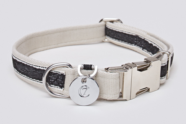 DOG COLLAR HUGO BLACK - Lavish Tails