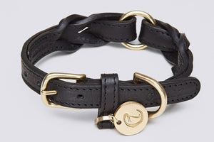 DOG COLLAR HYDE PARK BLACK - Lavish Tails