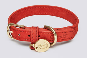 DOG COLLAR TIERGARTEN CHERRY RED - Lavish Tails