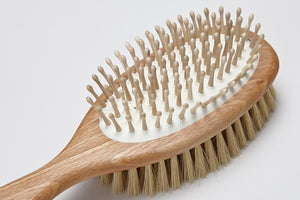 DOG FUR BRUSH WITH LEATHER LOOP - Lavish Tails