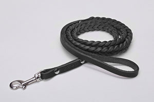 DOG LEASH CENTRAL PARK BLACK - Lavish Tails