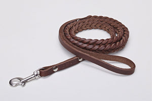 DOG LEASH CENTRAL PARK SADDLE BROWN - Lavish Tails