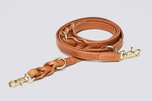 DOG LEASH HYDE PARK COGNAC - Lavish Tails