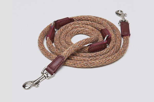 DOG LEASH VONDELPARK BURGUNDY - Lavish Tails