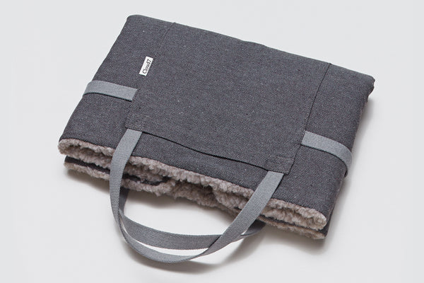 TRAVEL BED TWEED TAUPE - Lavish Tails
