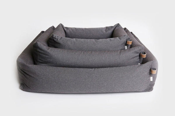 DOG BED SLEEPY DELUXE TWEED TAUPE - Lavish Tails