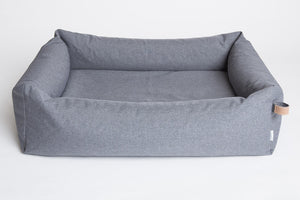 DOG BED SLEEPY MID GREY WATERPROOF - Lavish Tails