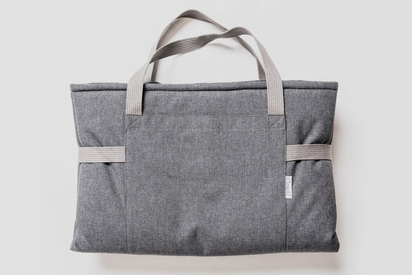 TRAVEL BED WATERPROOF MID GREY - Lavish Tails