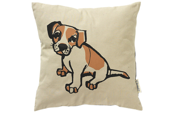 Cloud7 Organic Motif Cushions - Parson Russell Terrier Puppy - Lavish Tails