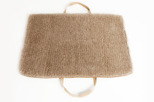 TRAVEL BED HAZELNUT/BROWN WOOL - Lavish Tails