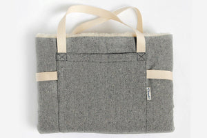 TRAVEL BED TWEED GREY - Lavish Tails