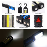 New Portable Spotlight Work Light Flashlight COB LED Worklight Rechargeable Magnetic Torch Portable Lighting Car Inspection Lamp