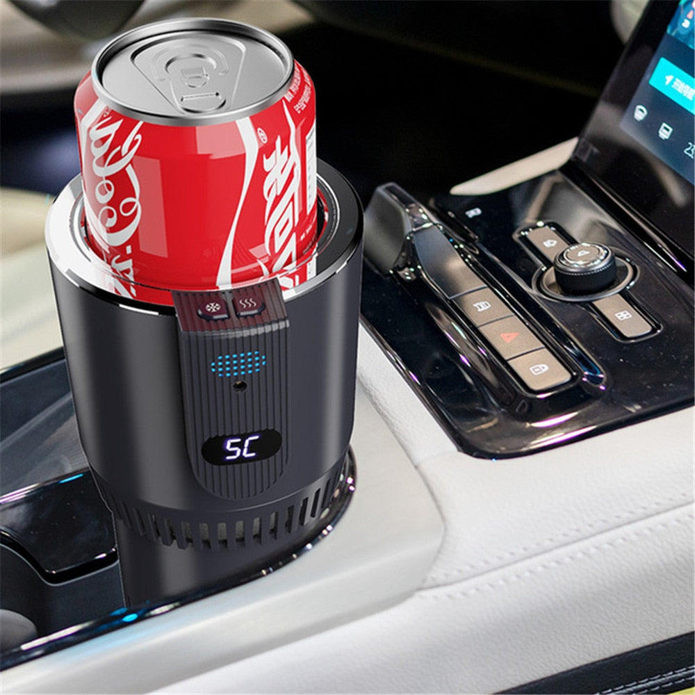 DC 12V Car Heating Cooling Cup 2-in-1 - Car Office Cup Warmer/ Cooler - Smart Car Cup Mug Holder Tumbler Cooling Beverage Drinks Cans