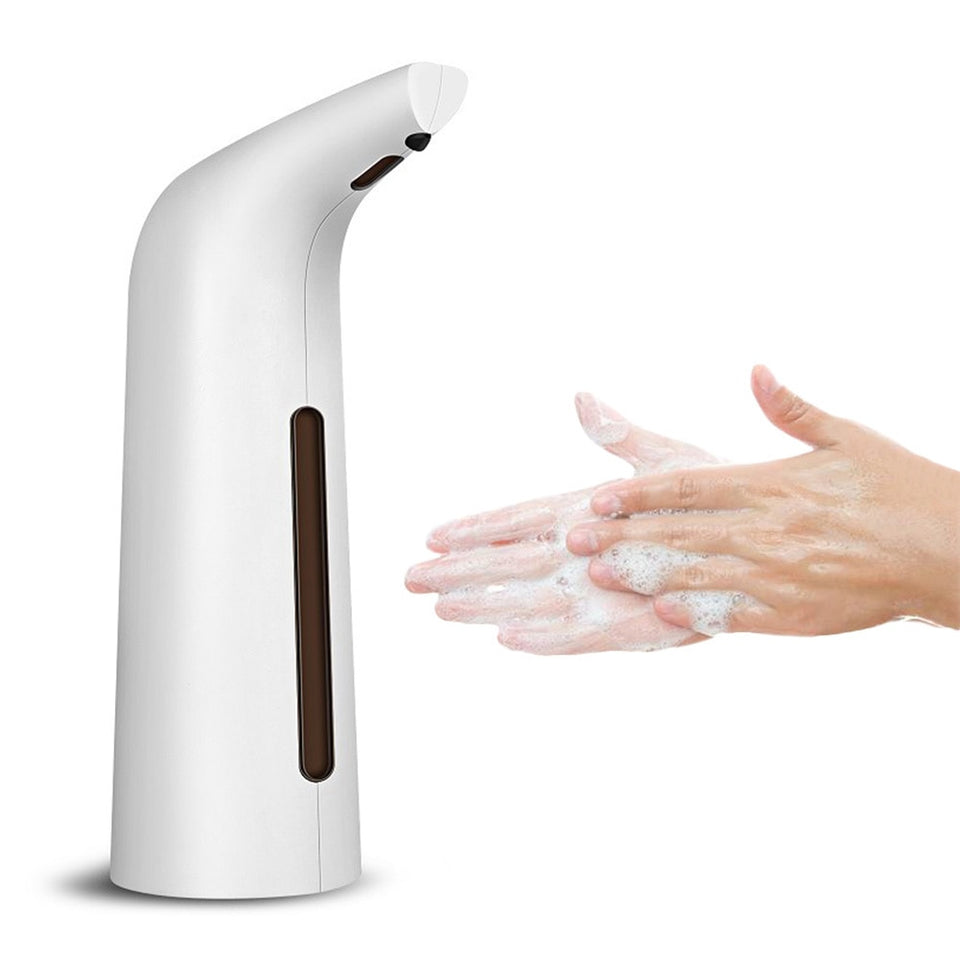 400ml Useful Smart Sensor Touchless Electroplated Sanitizer Dispensador Automatic Liquid Soap Dispenser for Kitchen Bathroom